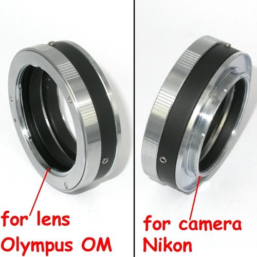 Nikon anello adattatore a obiettivo Olympus OM versione MACRO