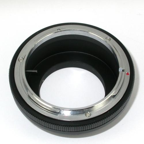 micro 4/3 Olympus Lumix Panasonic raccordo obiettivo Canon FD chiusura diaframma