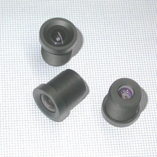 Obiettivo telecamera CCTV passo S mount f 3,6 mm grandangolo