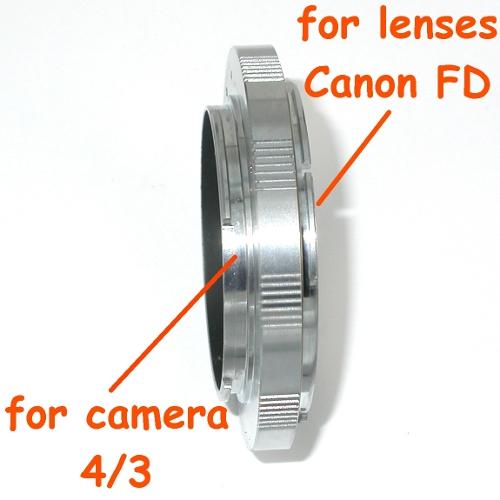 4/3 anello adattatore a obiettivo Canon FD versione MACRO raccordo adapter