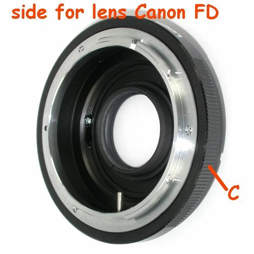 NIKON anello adattatore a obiettivo Canon FD raccordo adapter lens ring