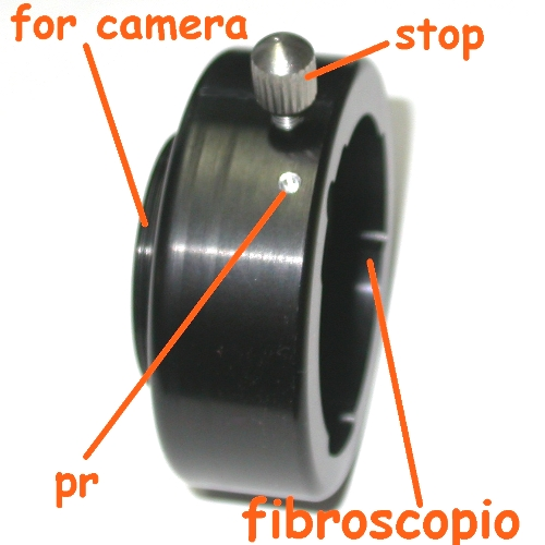 RACCORDO foto per  FIBROSCOPIO OLYMPUS  BF tipe XT 40 BF-40