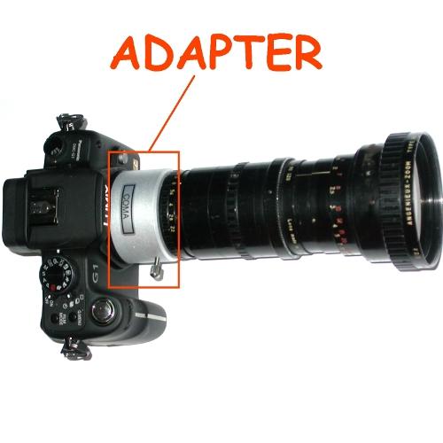micro 4/3 Olympus Lumix Panasonic anello raccordo a obiettivo ARRIFLEX adapter
