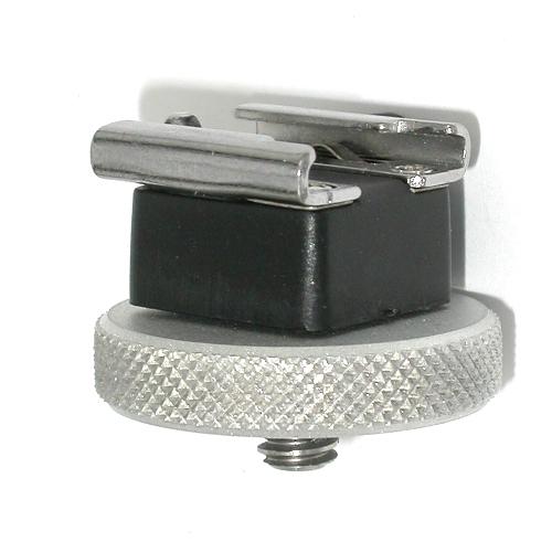 Slitta porta flash e accessori con attacco fotocamere filetto standard 1/4 ``