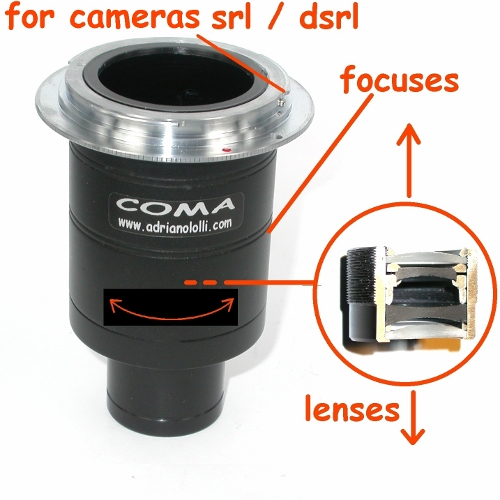 ZEISS STEMI 2000C terminale  raccordo FOTO SRL DSRL microscopio microscope
