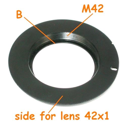 Canon EOS adattatore EF obiettivo lens vite 42x1 M42 con battuta per diaframma
