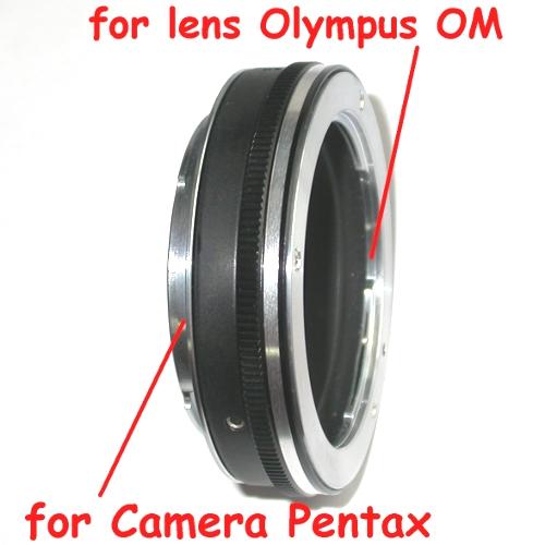 Pentax K anello raccordo  a lens Olympus OM adattatore adapter MACRO
