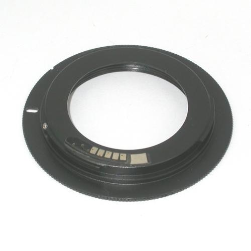 Canon EOS EF adattatore microchip per obiettivo M42 con battuta per diaframma