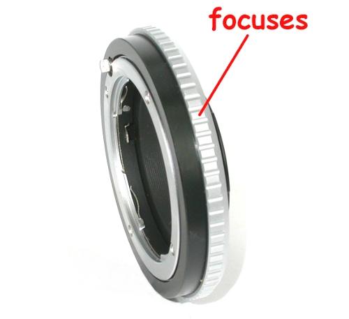 micro 4/3 Olympus Lumix Panasonic anello raccordo 360°  per obiettivo Contax G