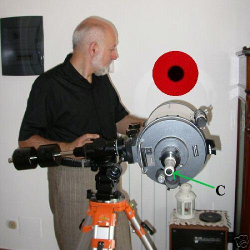 COLLIMATORE LASER PER TELESCOPIO A SPECCHIO Collimator
