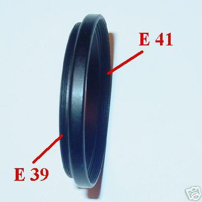 LEICA anello riduzione filtri E39 E 39 a filtro E41 E 41 ADAPTER FILTER