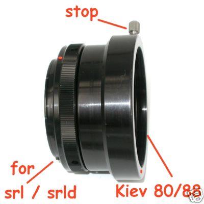 Canon EOS adattatore con microchip per obiettivo kiev 88 / 80  adapter lens