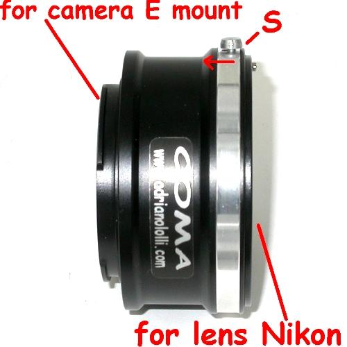 SONY NEX  ( E mount ) adattatore raccordo per ottiche NIKON