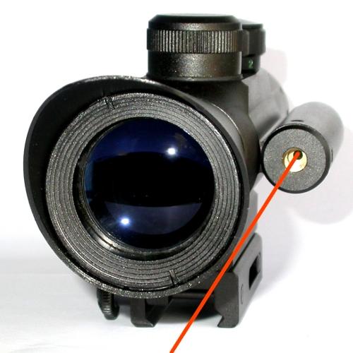 Cannocchiale compatto con puntatore laser per carabina fucile 4X30 riflescope