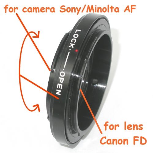 Sony - Minolta AF anello adattatore a obiettivo Canon FD raccordo adapter