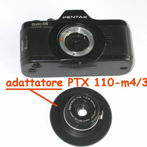 micro 4/3 Olympus Lumix Panasonic raccordo a obiettivo Pentax 110  adapter