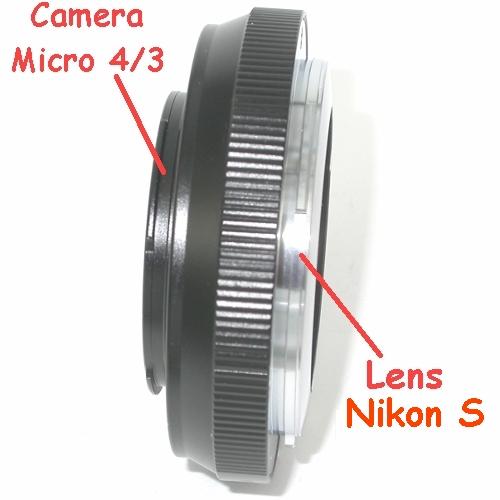 micro 4/3 Olympus Lumix Panasonic anello raccordo a obiettivo Nikon S adattatore