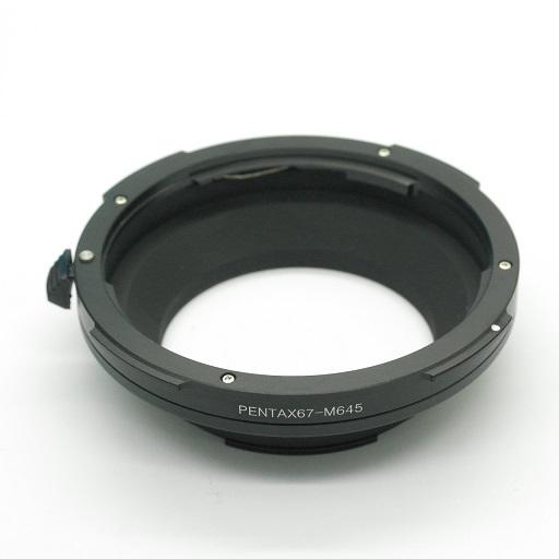 MAMIYA 645 fotocamera adattatore per obiettivo Pentax 67 Raccordo adapter ring