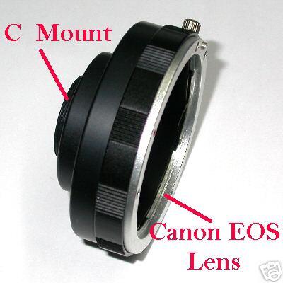 Camera CCD - CMOS graft C mount for lens Canon eos