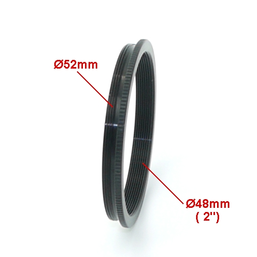 Anello riduzione filtri 52 mm a filtro per astronomia  da  2 `` pollici