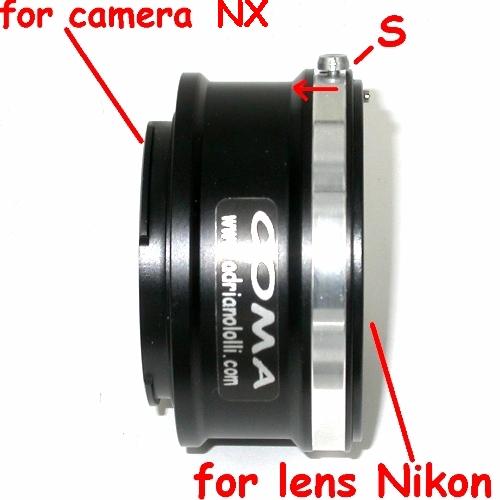 Samsung NX adattatore raccordo per ottiche NIKON