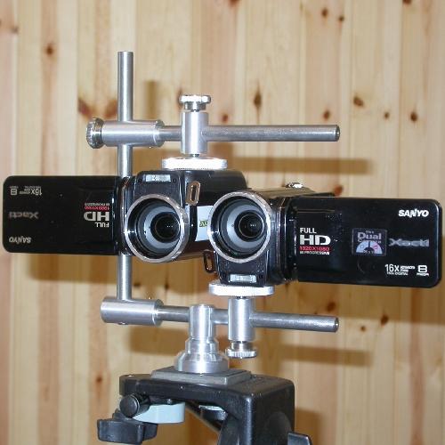 Staffa universale 3D supporto regolabile per riprese tridimensionali
