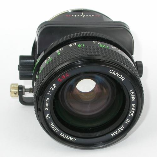 MODIFICA  obiettivo Canon FD TS (tilt shift)  35mm f2.8 a fotocamera Canon eos