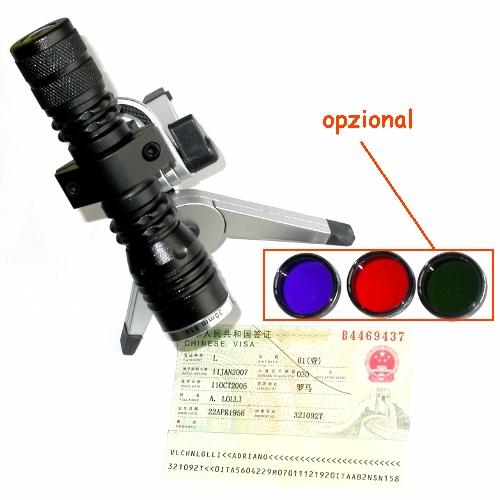 Illuminatore a luce diffusa con attacco filtri a banda passante + filtro