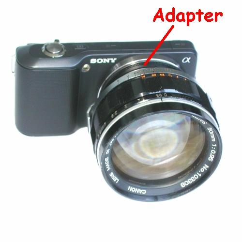 SONY NEX ( E mount ) adattatore raccordo per ottiche Canon 7 e Canon TV;
