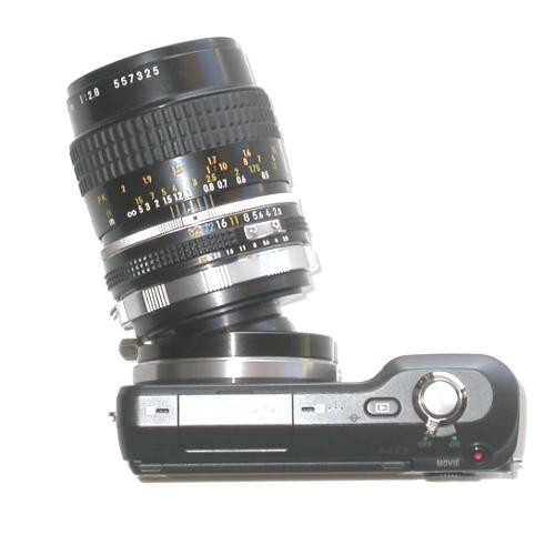 Sony NEX E mount raccordo BASCULANTE ROTANTE x obiettivo Nikon tilt lens adapter