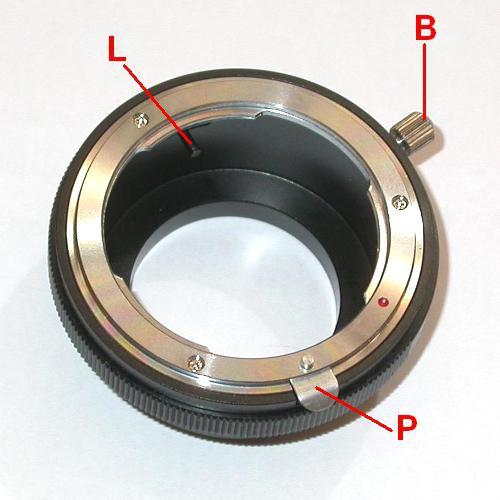 Micro 4/3 Olympus,Lumix ,.. adattatore  per ottiche Nikon G con blocco diaframma