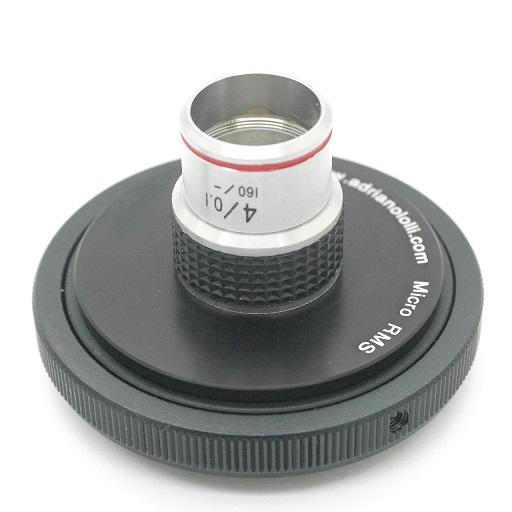 Obiettivo  per microscopio biologico attacco standard RMS 10 X / 0,25 160 / 0,17