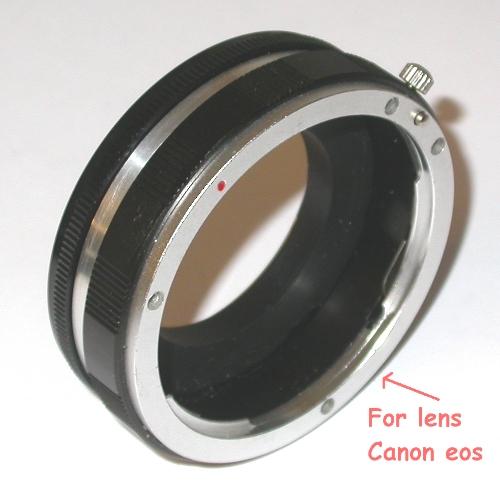 Contax manual focus Raccordo MACRO per utilizzare ottiche innesto Canon EOS EF