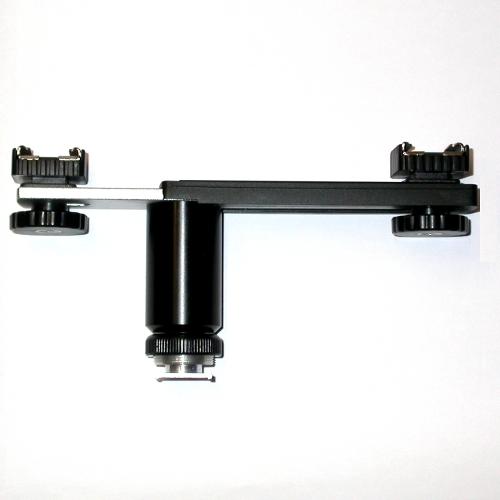 Staffa rialzata x flash Metz Sunpak Nikon ecc. o altri accessori  doppia slitta