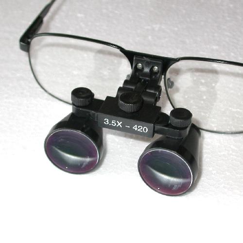 Occhiali ingrandenti galileiani 3,5X distanza di lavoro 420mm