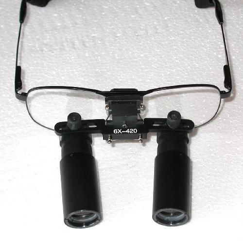 Occhiali ingrandenti prismatici 6X distanza di lavoro 420mm