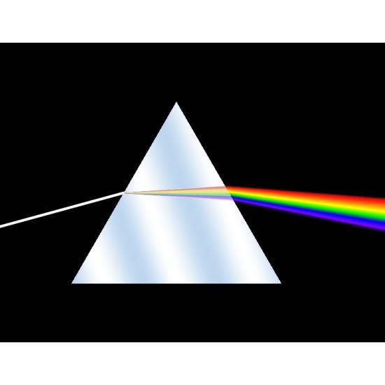 PRISMA DISPERSIVO OTTICO equilatero - triangolare 60° equilater prism