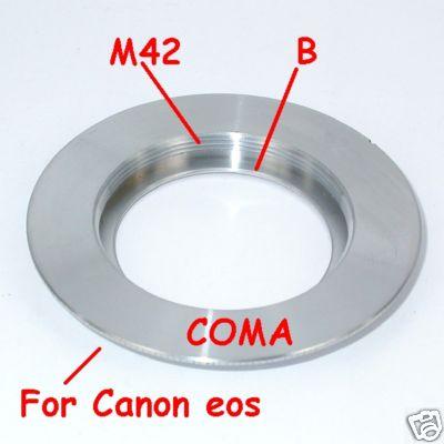 Canon EOS adattatore plus per obiettivo vite 42x1 M42 con battuta per diaframma