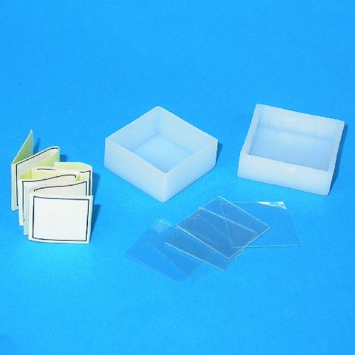 Coprivetrino in vetro ultrasottile 18x18x0,18mm + etichette