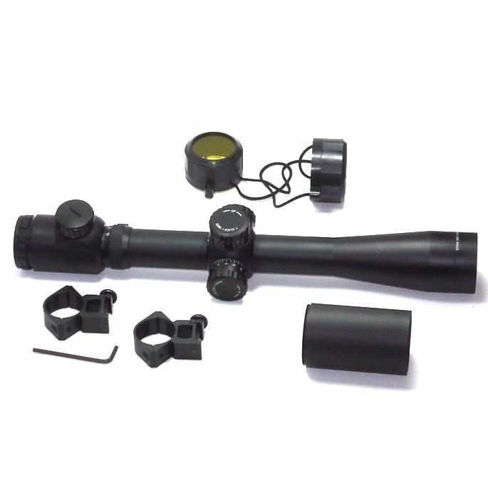 Cannocchiale riflescope zoom compatto tipo militare  con puntatore laser 1-6X22