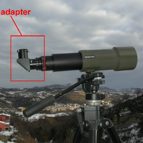 Swarovski CT CTS Adattatore con diagonale 90°x oculari 31,8 for eyepieces 1,25``