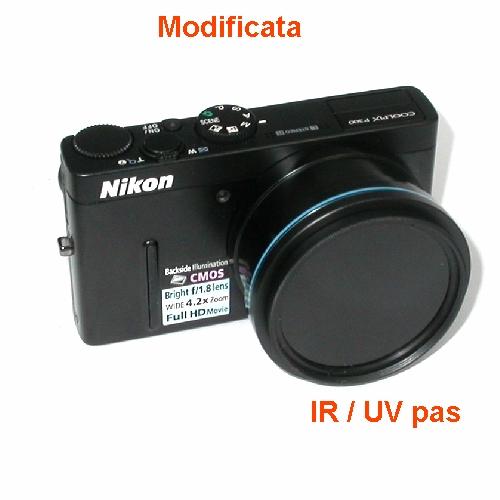 Fotocamera modificata per fotografia infrarosso INFRARED CAMERA IR UV + 5 filtri