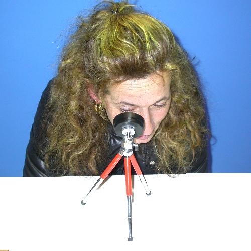 Specchio sferico ingrandente 20X per autoanalisi utilizzo oftalmico con stativo
