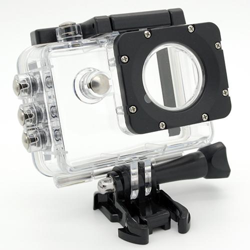 Custodia GoPro HERO  + supporto adattatore per cavalletto