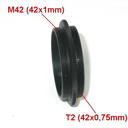 Anello di giunzione macro maschio maschio T2 / M42