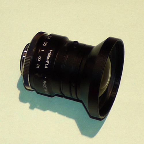 MODIFICA obiettivo C mount Kowa 8MM f1,4LM8HC x videocamere micro 4/3 Blackmagic