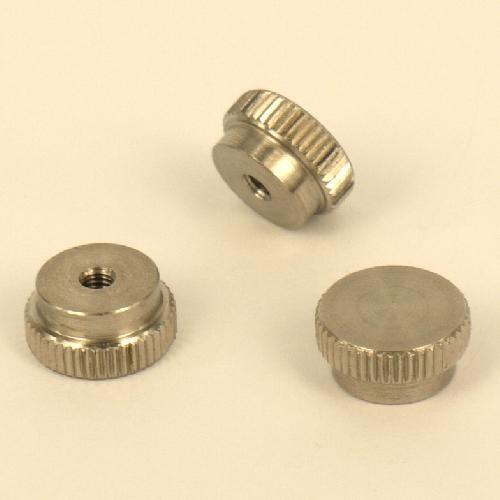 Manopola da assemblare, pomello, dado cieco Ø 4mm in acciaio inox