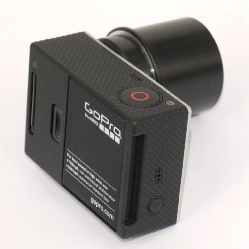 Videocamera GoPro HERO 3 modificata per telescopi con innesto 31,8 con filtro