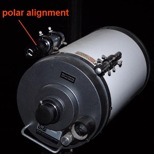 Puntatore polare cercatore con reticolo di allineamento Ø 32mm