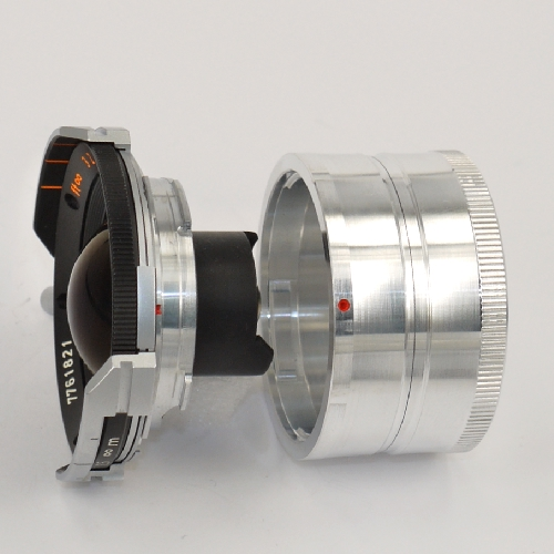 Leica M Voigtlander Bessa Tappo retro obiettivo LUNGO in metallo rear lens cap